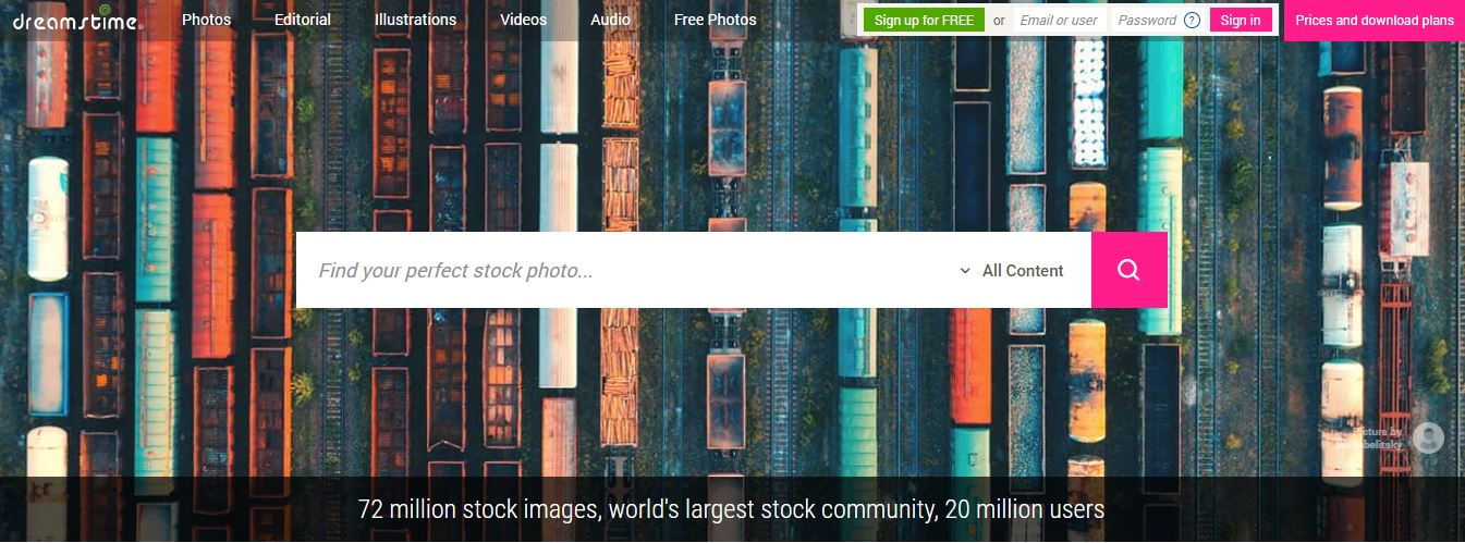 This image source boasts over 45 Million collections of photos and  illustrations collection that you can access for free upon registration.